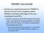 transp and elvislib
