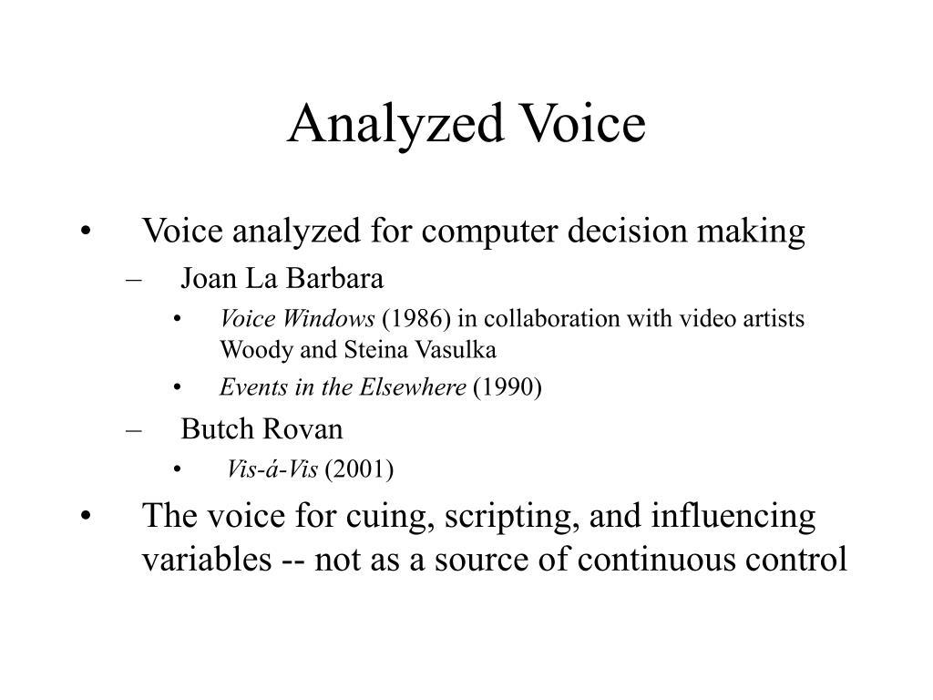 Analyzed Voice