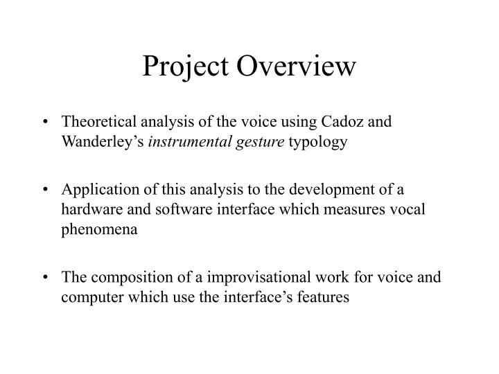 Project overview3
