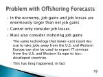 problem with offshoring forecasts
