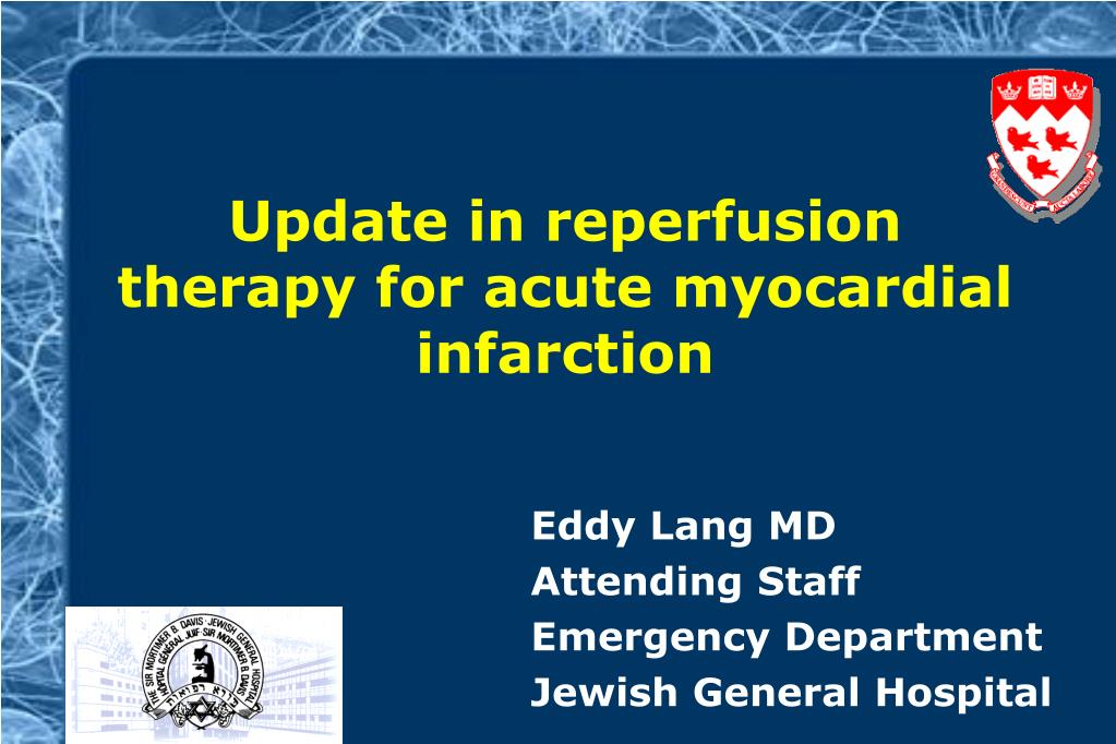 update in reperfusion therapy for acute myocardial infarction l.