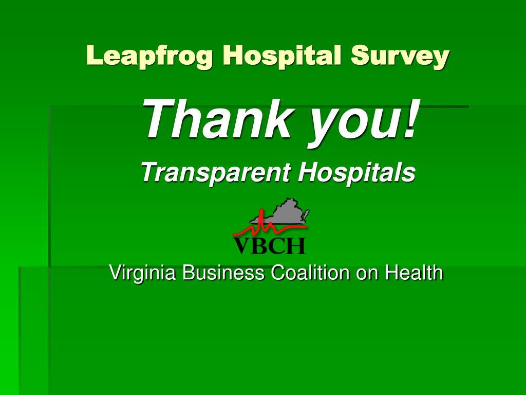 Leapfrog Hospital Survey