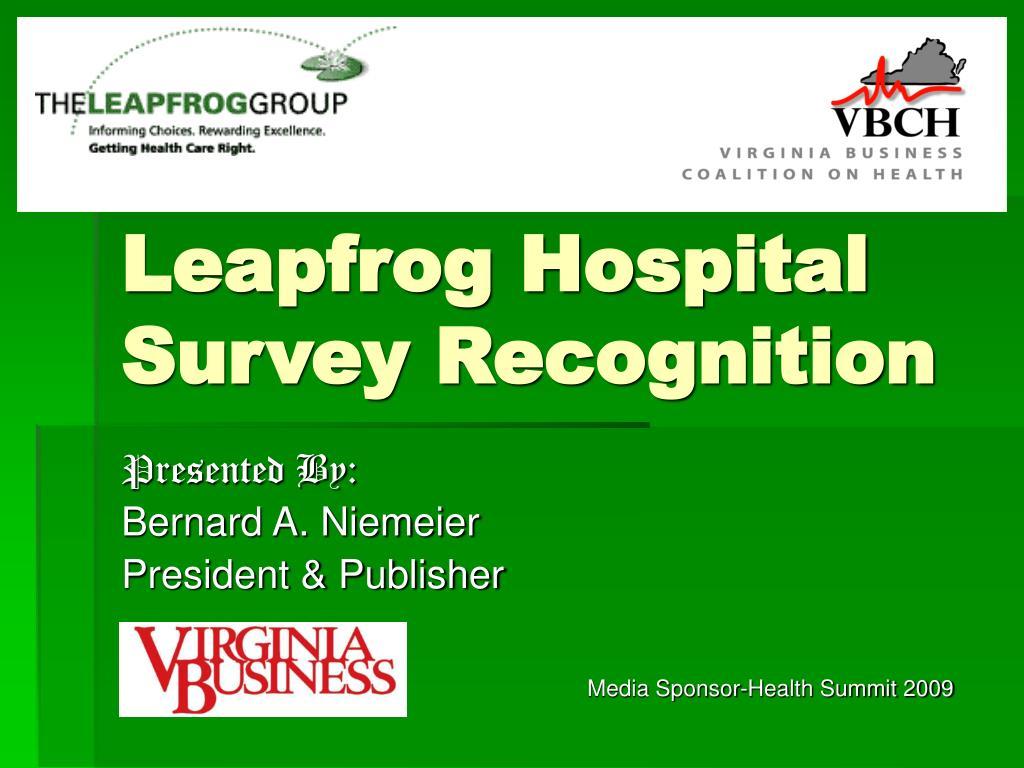 leapfrog hospital survey recognition l.