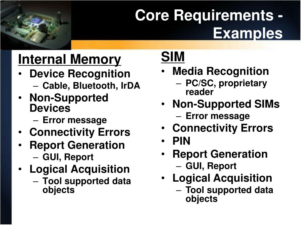 Core Requirements - Examples