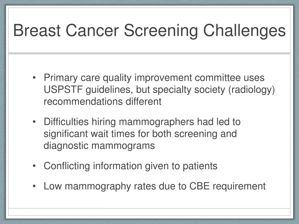 Breast Cancer Screening Challenges