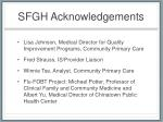 sfgh acknowledgements