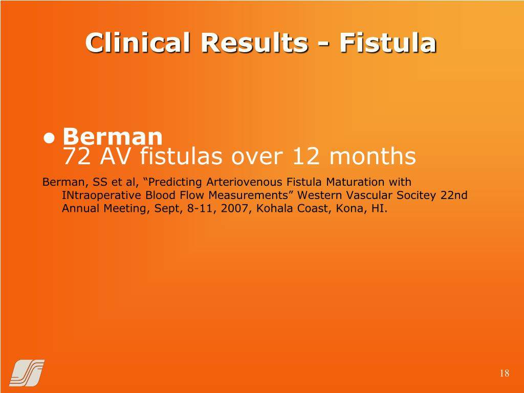 Clinical Results - Fistula