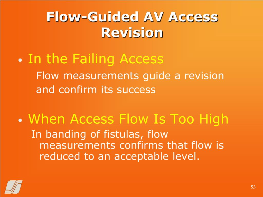 Flow-Guided AV Access Revision