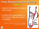 flow measurements during dril