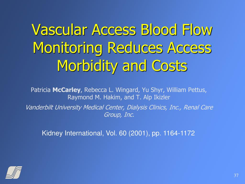 Vascular Access Blood Flow Monitoring Reduces Access Morbidity and Costs