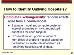 how to identify outlying hospitals