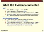 what did evidence indicate