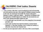 calogero chief justice dissents