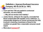 debattista v argonaut southwest insurance company 403 so 2d 26 la 1981