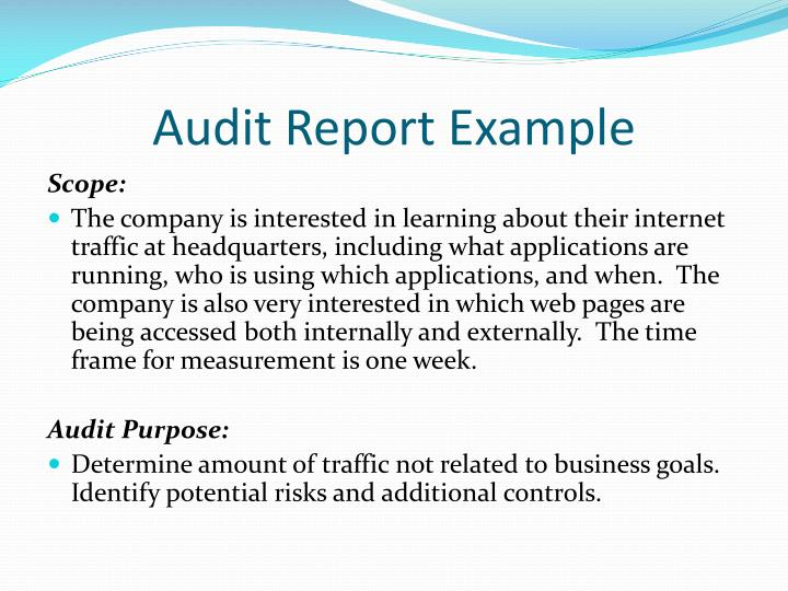 the purpose of an audit report What is a communication audit communication audit report hall (2007), a communication audit is a thorough evaluation of an organization's ability to transfer information this type of audit can be performed to evaluate an organization's external or internal communication capabilities the purpose.