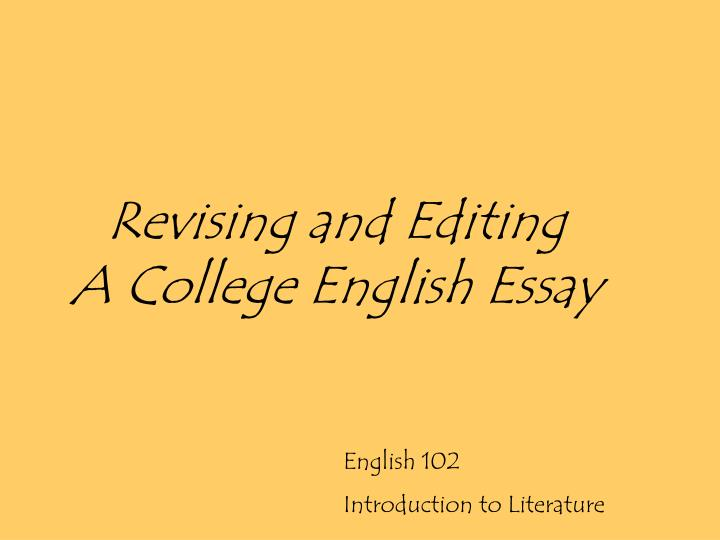 edit my english essay We provide professional proofreading services, that will help correct errors in spelling, grammar and punctuation any paper from academic to business.