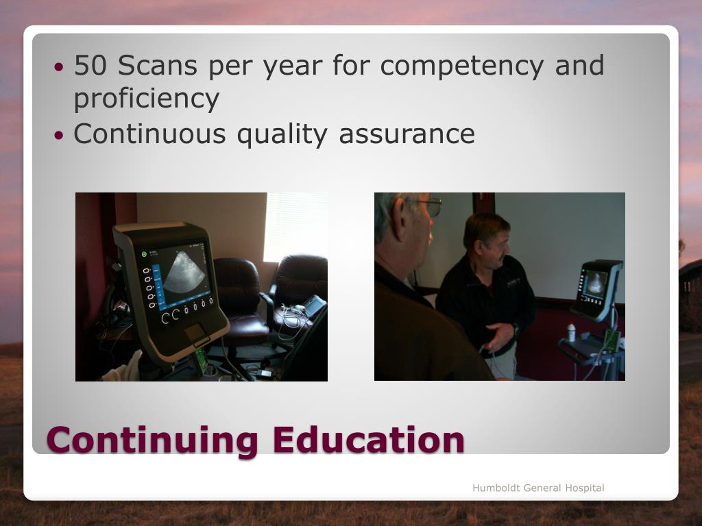 50 Scans per year for competency and proficiency