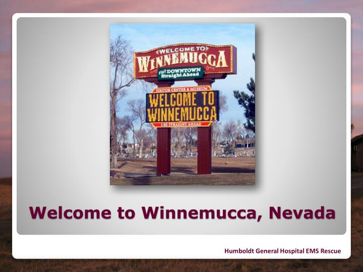 Welcome to winnemucca nevada