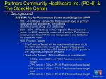 partners community healthcare inc pchi the stoeckle center