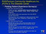 phs partners community healthcare inc pchi the stoeckle center25