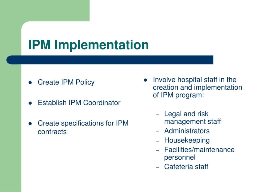 Create IPM Policy