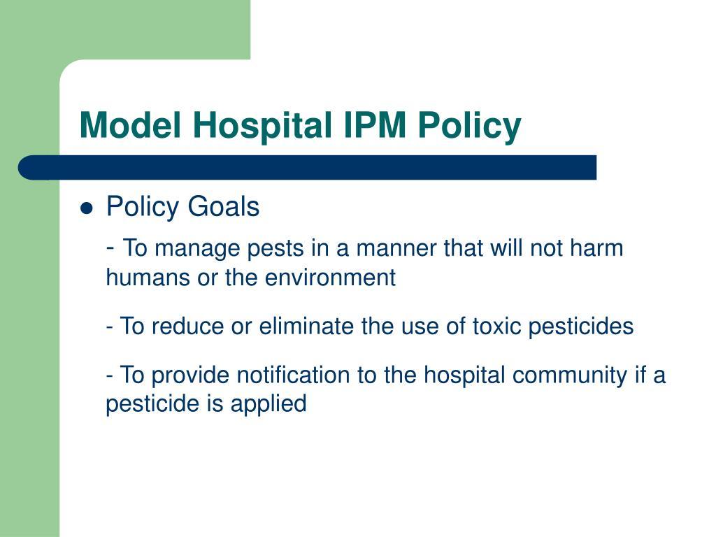 Model Hospital IPM Policy