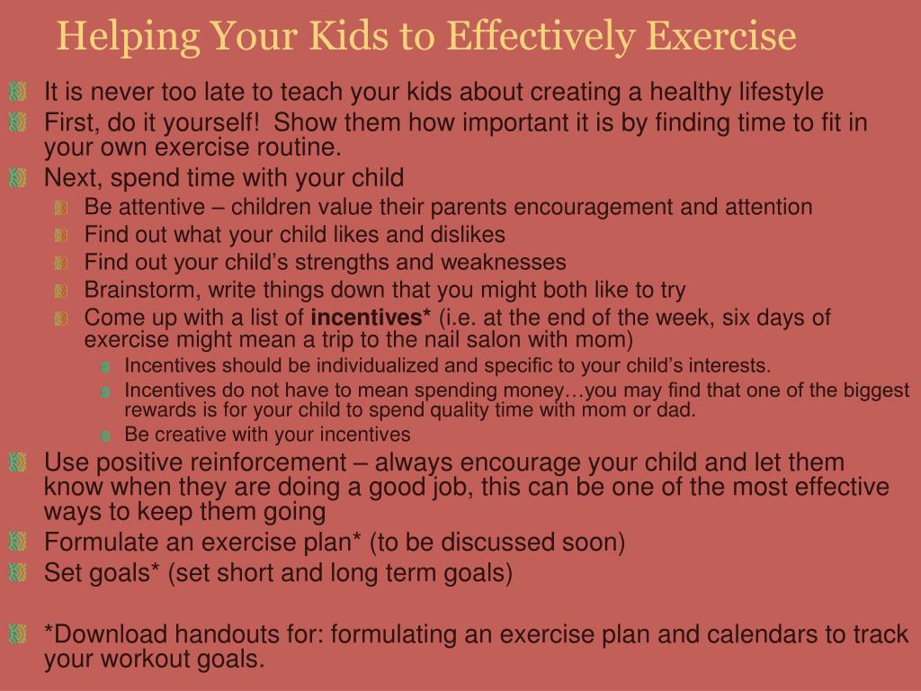 Helping Your Kids to Effectively Exercise
