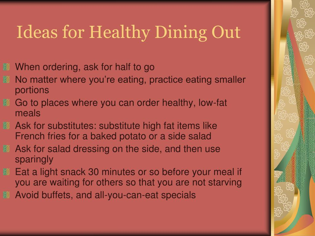 Ideas for Healthy Dining Out
