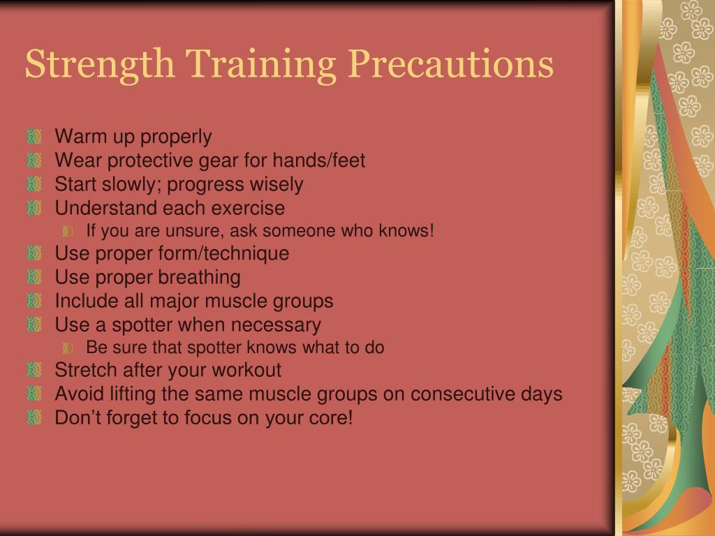 Strength Training Precautions