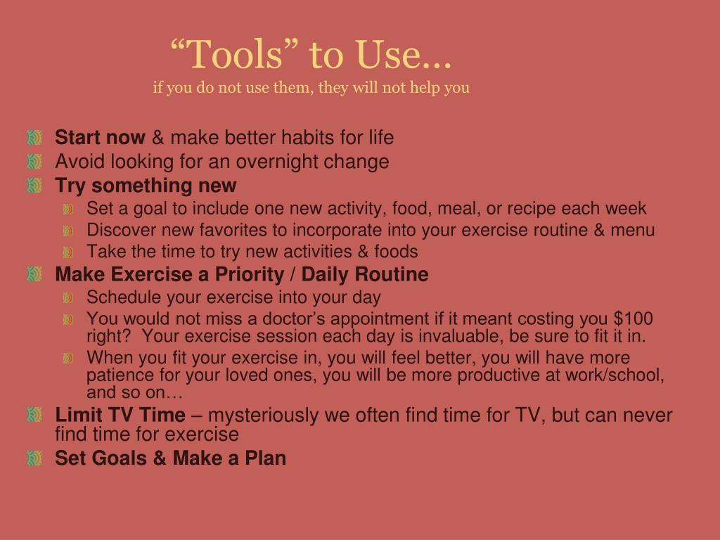 """Tools"" to Use…"