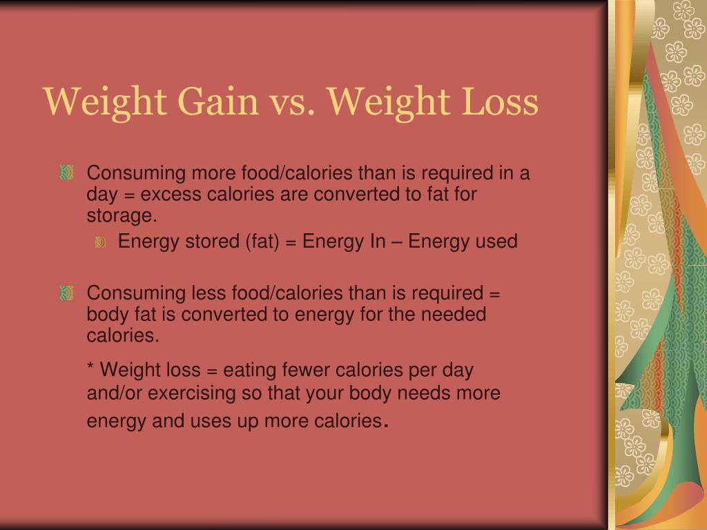 Weight Gain vs. Weight Loss