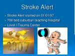 stroke alert