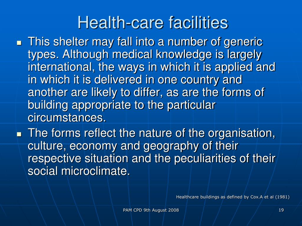 Health-care facilities