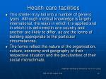 health care facilities19