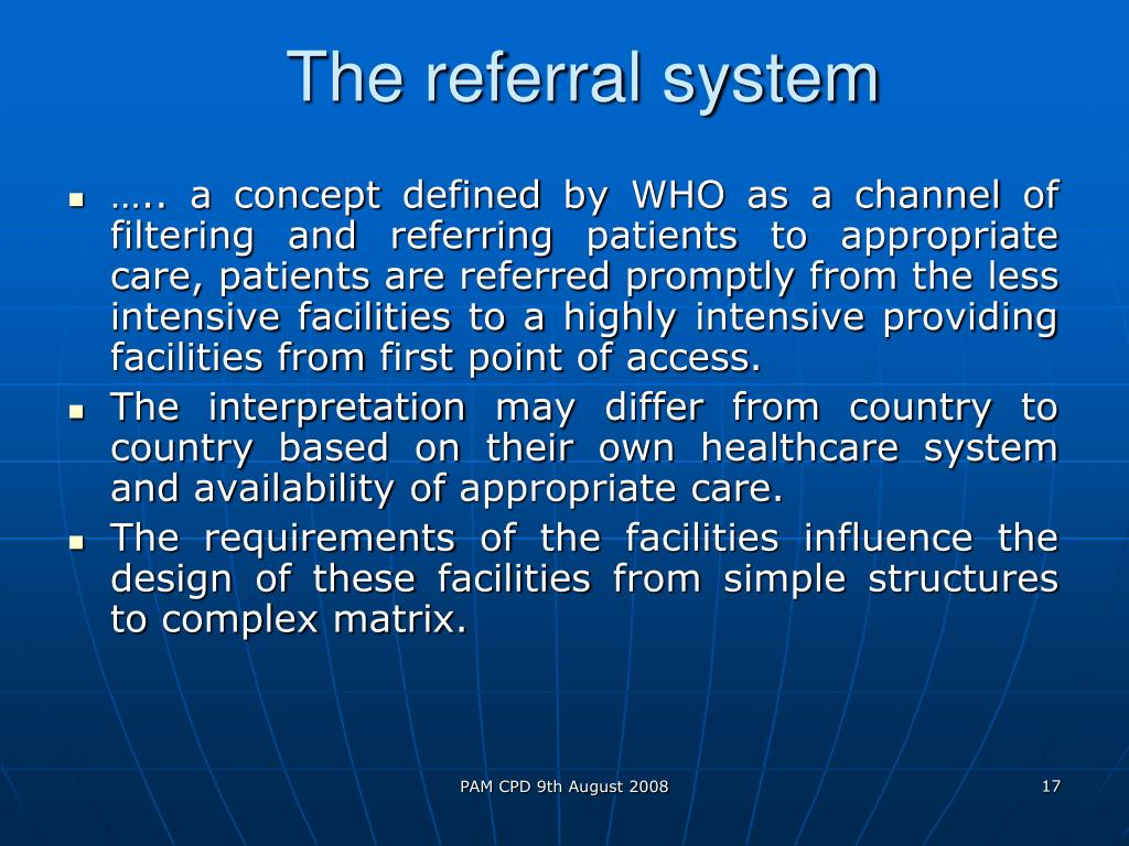 The referral system