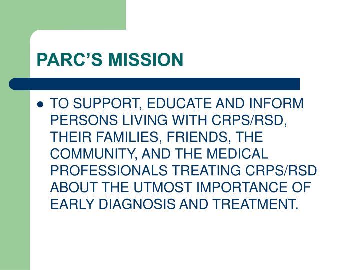 Parc s mission