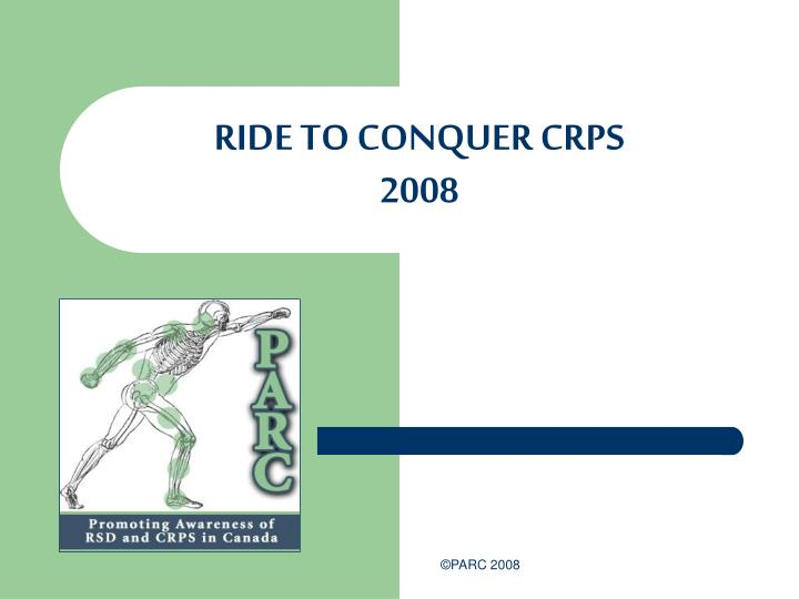 Ride to conquer crps 2008