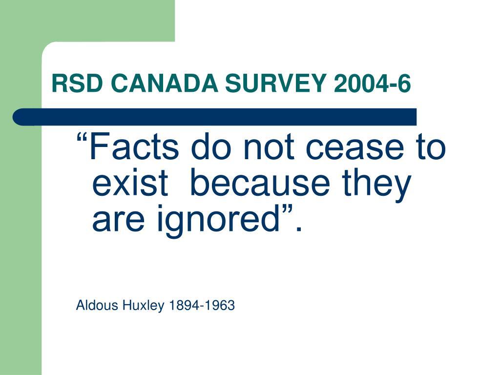 RSD CANADA SURVEY 2004-6