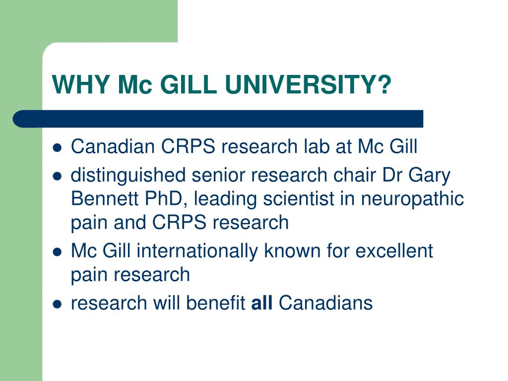 WHY Mc GILL UNIVERSITY?