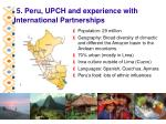 5 peru upch and experience with international partnerships