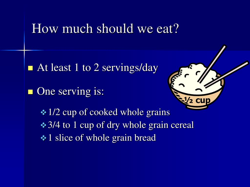 How much should we eat?