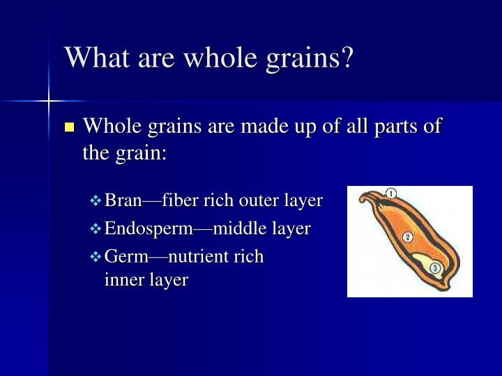 What are whole grains