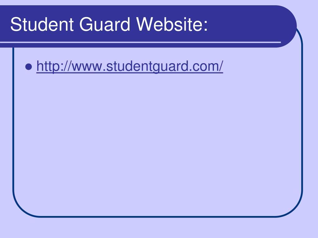 Student Guard Website: