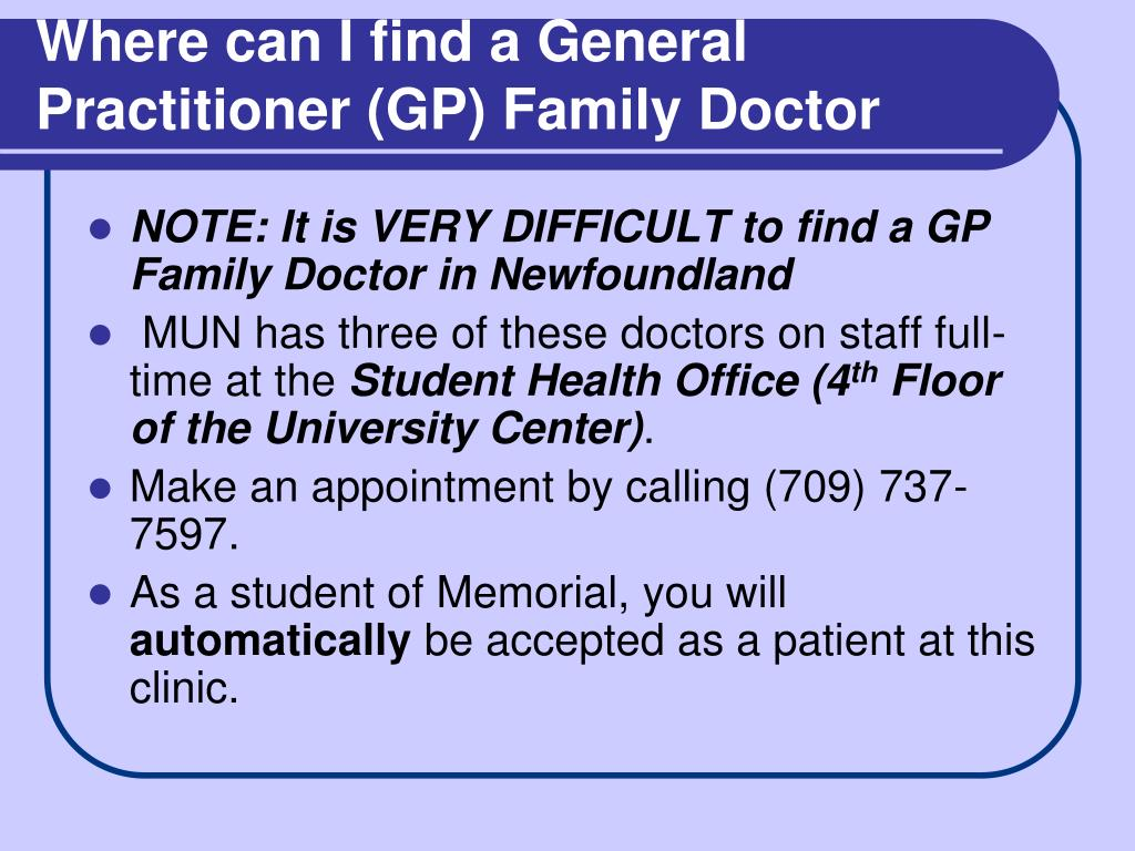 Where can I find a General Practitioner (GP) Family Doctor
