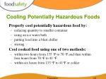 cooling potentially hazardous foods