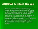 ancova intact groups