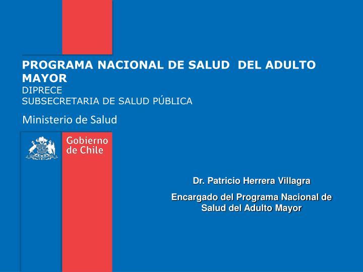 programa nacional de salud del adulto mayor diprece subsecretaria de salud p blica n.