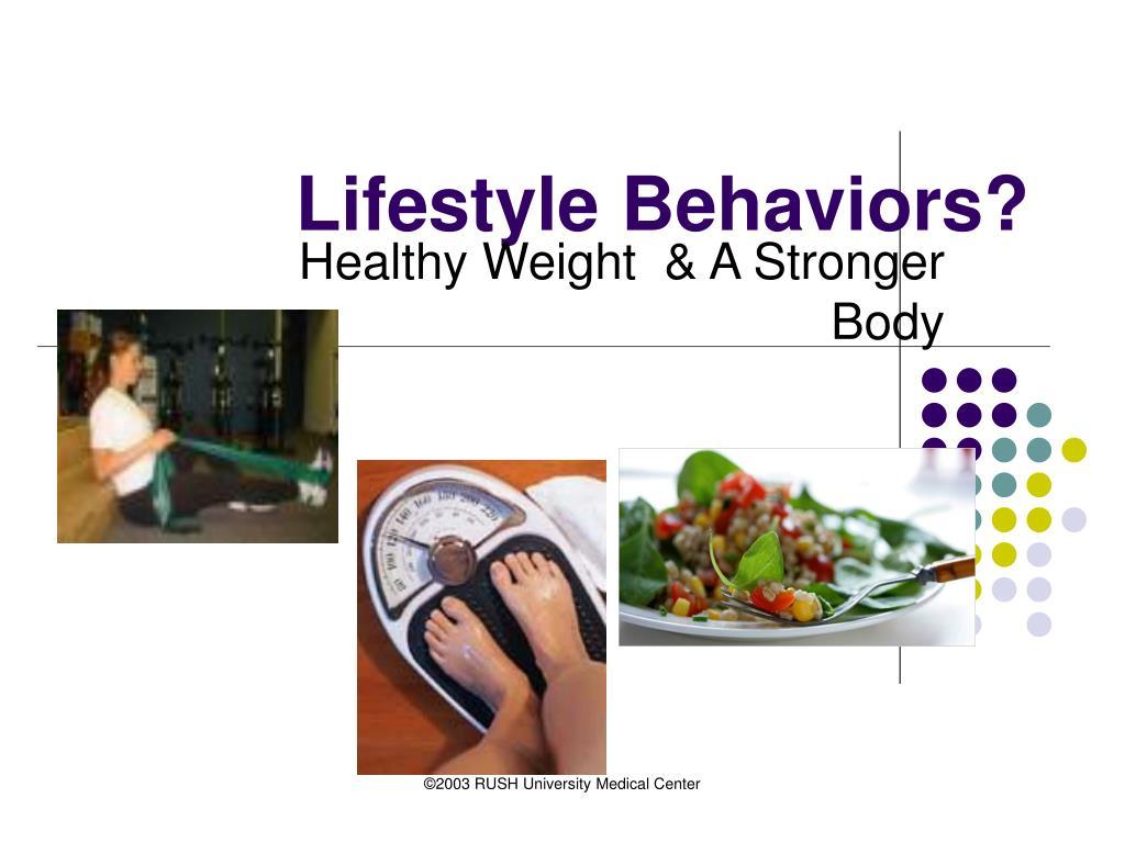 Lifestyle Behaviors?