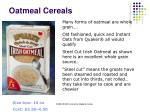 oatmeal cereals