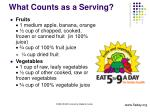 what counts as a serving